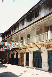 The house in Zanzibar where Mercury lived in his early years