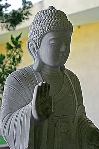 Buddhism is sometimes described as nontheistic because of the absence of a creator god, but that can be too simplistic a view.