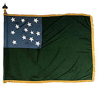 A circa 1775 flag used by the Green Mountain Boys