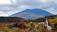 "Burke Mountain from Lyndonville—in the state's ""Northeast Kingdom"""