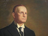 Vermont native Calvin Coolidge as he appears at the National Portrait Gallery in Washington, D.C.