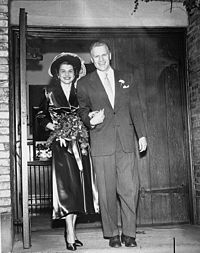 The Fords on their wedding day, October 15, 1948