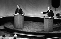 Jimmy Carter and Ford in a presidential debate, September 23, 1976.