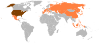 Countries visited by Ford during his presidency