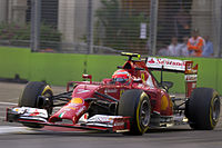Räikkönen at the 2014 Singapore Grand Prix