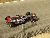 Räikkönen testing for McLaren at Valencia in early 2006.