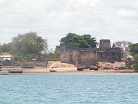 The fort (Gereza) on the banks of Kilwa Kisiwani. View a 3D model here.