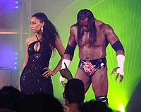 Booker T (right) and Sharmell in TNA