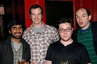 From left to right, Human Giants Aziz Ansari, Rob Huebel, Jason Woliner, and Paul Scheer in May 2007