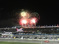 Fireworks display after the 2018 Coke Zero Sugar 400