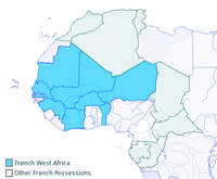 French West Africa circa 1913