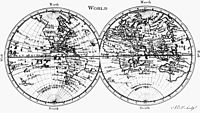 """Map from 1771, showing """"Terres Australes"""" label without any charted landmass."""