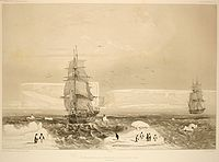 Discovery by Jules Dumont d'Urville of Adélie Land in 1840. This served as a basis for the French claim to this region in 1924.