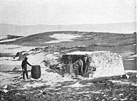 Hut built at Hope Bay in 1903. It was there that the only instance of shots fired in anger on the Continent occurred in 1952.