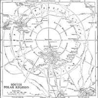 Map of exploration routes, 1911.
