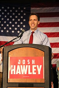 Hawley on election night after securing the Republican primary win