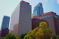Office buildings in downtown Omaha
