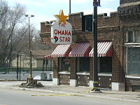 The historic Omaha Star building along North 24th Street, listed on the National Register of Historic Places