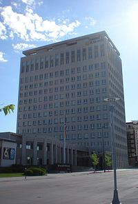 Kiewit Tower, the location of Berkshire Hathaway's corporate offices