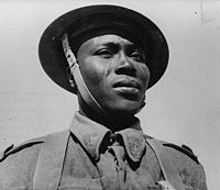 A Chadian soldier fighting for Free France during World War II. The Free French Forces included 15,000 soldiers from Chad.