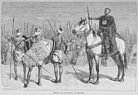 Group of Kanem-Bu warriors. The Kanem-Bornu Empire controlled almost all of what is today Chad.
