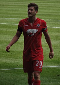 Lallana playing for Southampton in 2013