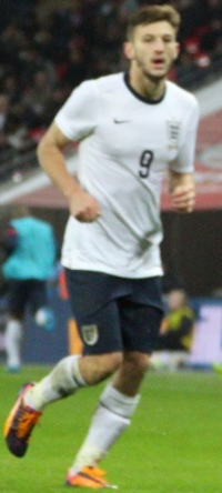 Lallana playing for England in 2013