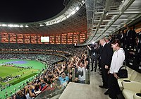 Chelsea playing against Arsenal at Baku Olympic Stadium during the 2019 UEFA Europa League Final