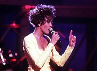 """Houston performing """"Saving All My Love for You"""" on the Welcome Home Heroes concert in 1991"""