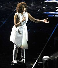 Houston at the O2 Arena in London, April 28, 2010, as part of her Nothing but Love World Tour