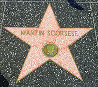 Scorsese's motion picture star on the Hollywood Walk of Fame