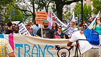 First trans solidarity rally and march, Washington, DC USA (2015)