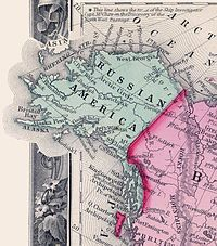 Map of Russian America in 1860