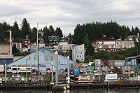 Cordova, built in the early 20th century to support the Kennecott Mines and the Copper River and Northwestern Railway, has persevered as a fishing community since their closure.