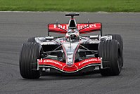 Silverstone adds millions every year to the local economy - Kimi Räikkönen testing for McLaren at Silverstone in April 2006