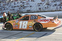 2009 Nationwide Series car of Monster Energy NASCAR Cup Series regular Kyle Busch, who won the Nationwide Series championship that year