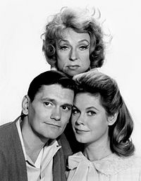 Bewitched co-stars Dick York, Agnes Moorehead, and Montgomery
