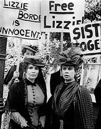 Montgomery (right) and Katherine Helmond as Emma and Lizzie Borden, February 1975
