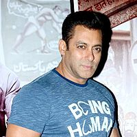 Khan at an event for Bajrangi Bhaijaan in 2015