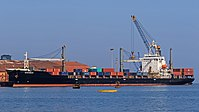 Container ship in Mormugao Harbour