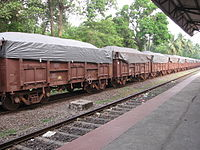 Train carrying Iron Ore to Marmagao Port