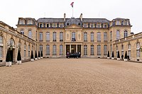 The Élysée Palace, official residence of the President of the French Republic