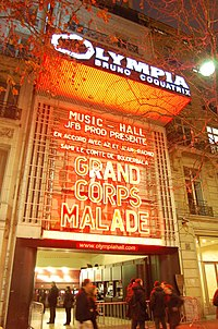 Olympia, a famous music hall