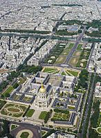 The Hôtel national des Invalides, a military hospital and museum on France's military history