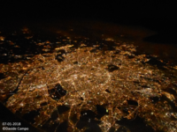 Paris in the night from a plane