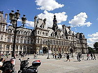The Hôtel de Ville, or city hall, has been at the same site since 1357.