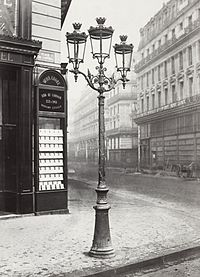 """In the 1860s, Paris streets and monuments were illuminated by 56,000 gas lamps, giving it the name """"The City of Light."""""""