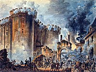 The storming of the Bastille on 14 July 1789, by Jean-Pierre Houël