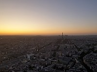 West of Paris seen from Tour Montparnasse in 2019