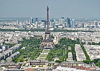 The Eiffel Tower and the La Défense district